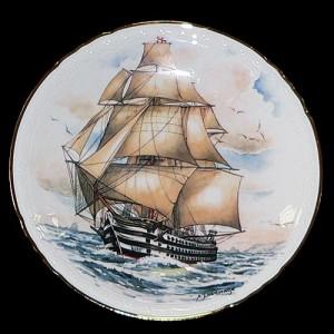 """Настенная тарелка """"Старые корабли"""""""
