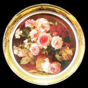 """Настенная тарелка """"Букет роз"""""""