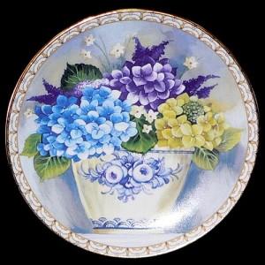 "Настенная тарелка ""Букет цветов"""