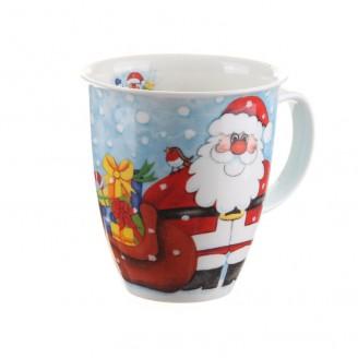 Dunoon Christmas Fun Santa Nevis shape Mug