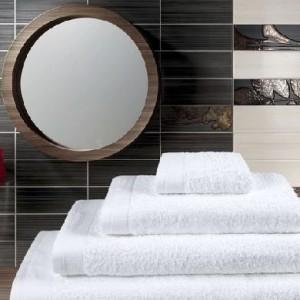 Гладкокрашеные махровые полотенца (цвета в ассортименте)